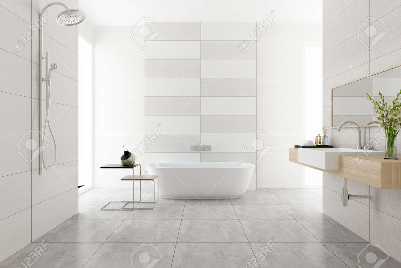 3D rendering of a Bathroom interior. - 146434978