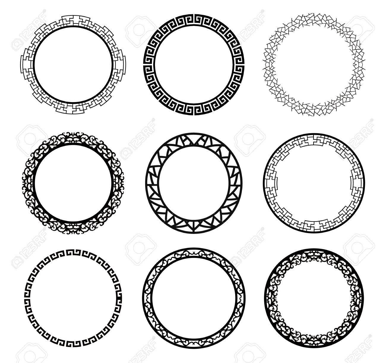 Vector Circle Frame Set Royalty Free Cliparts, Vectors, And Stock ...