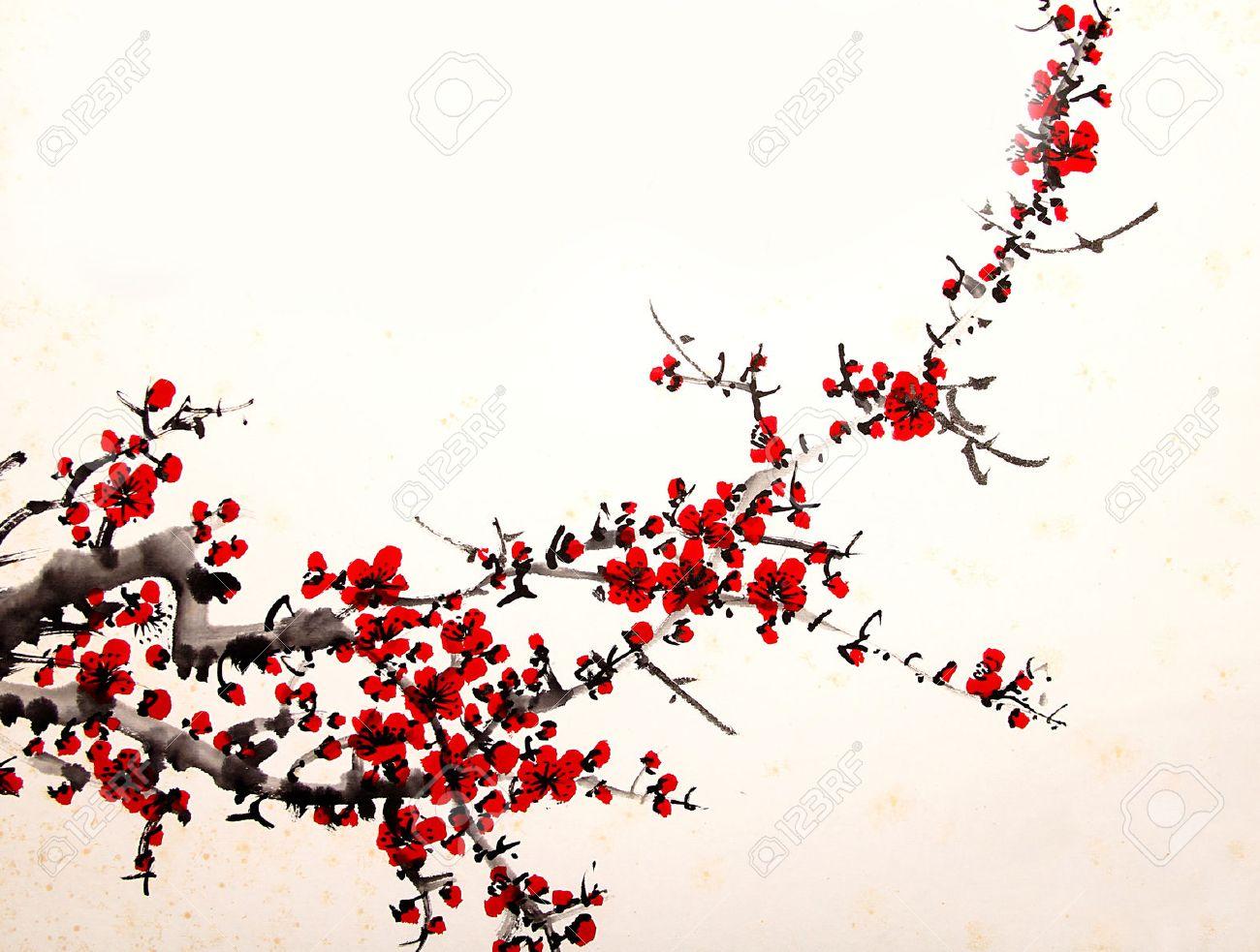 cherry painting - 55665246