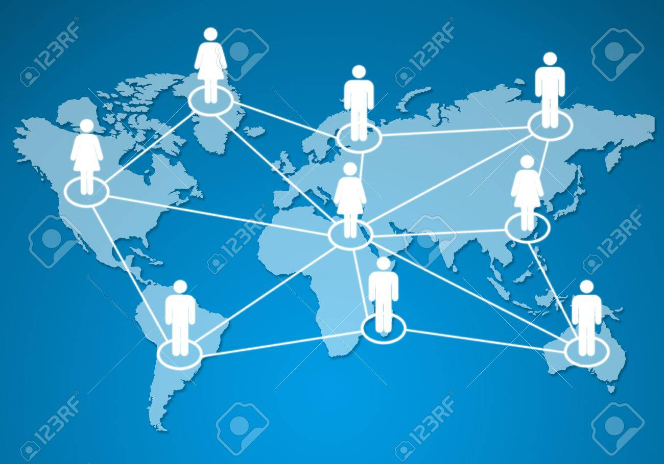 human models connected together in a social network. Stock Photo - 10682142