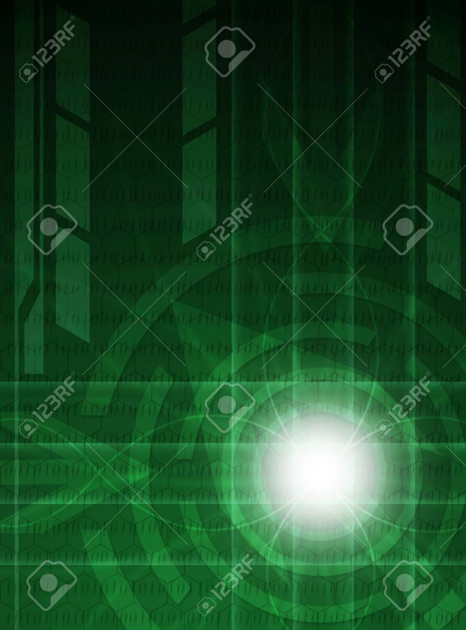 Abstract green technology background. Stock Photo - 11006107