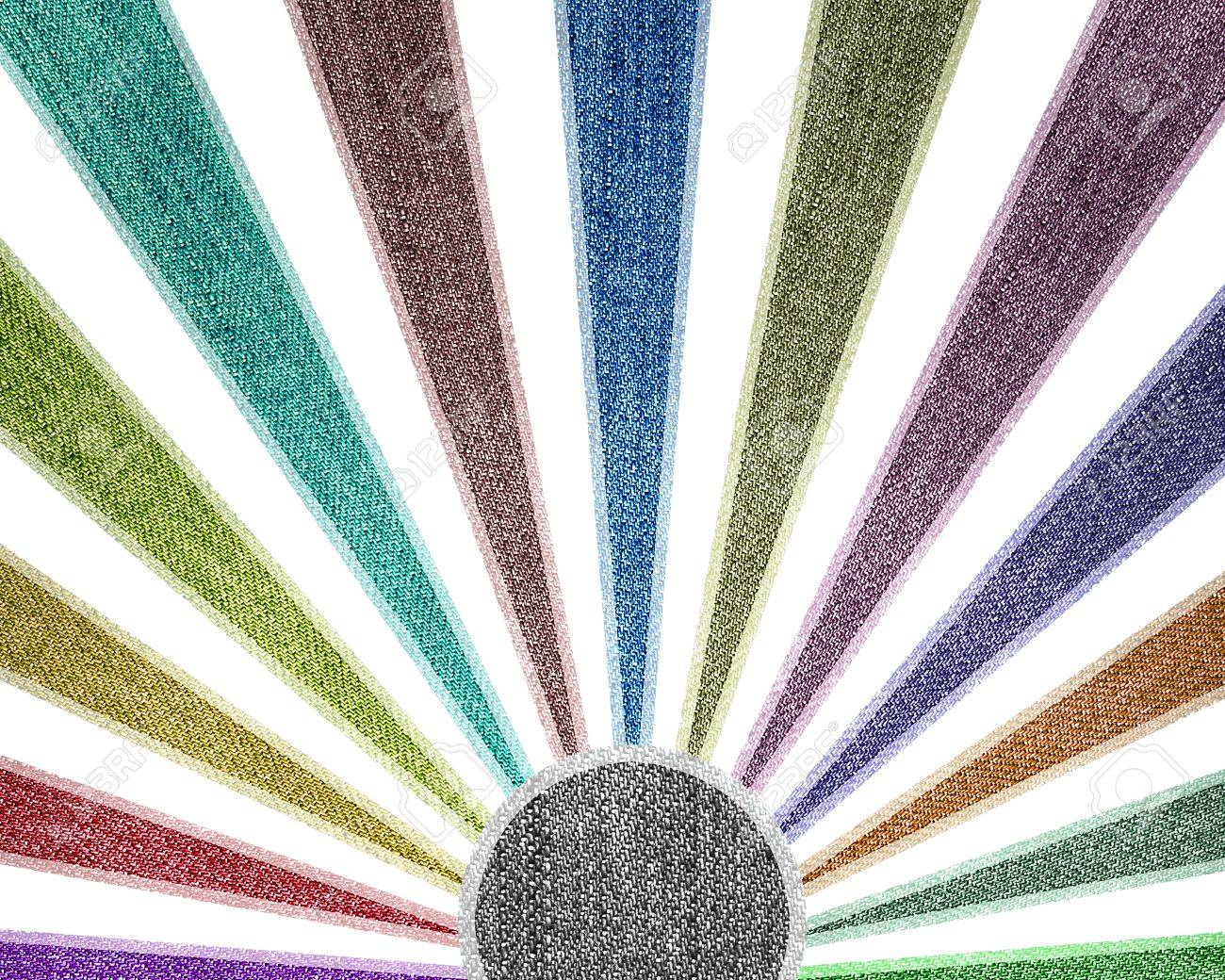 Creativity grunge multicolored stripes jean background. Stock Photo - 11109780