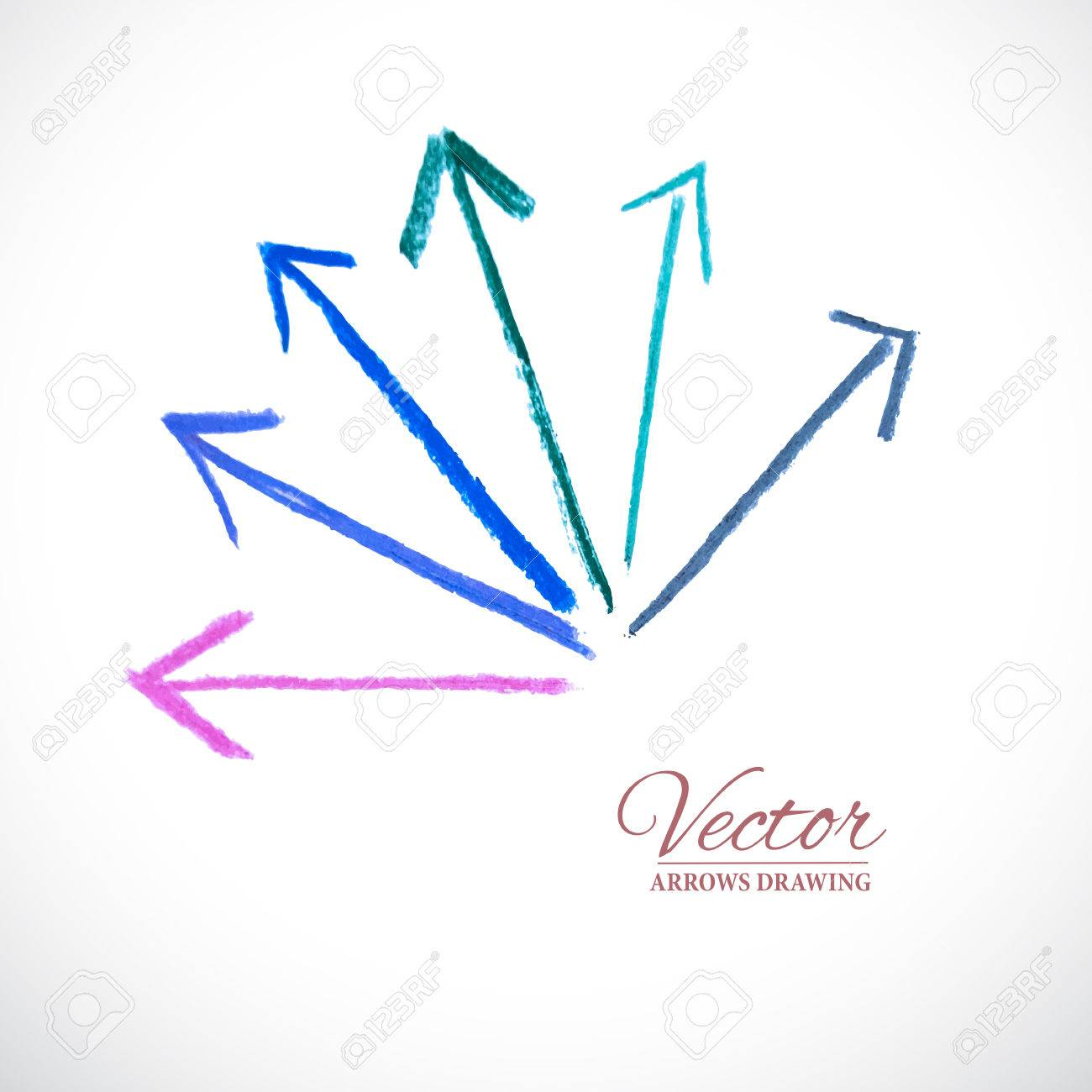 vector colorful arrows vector design elements artistic arrow
