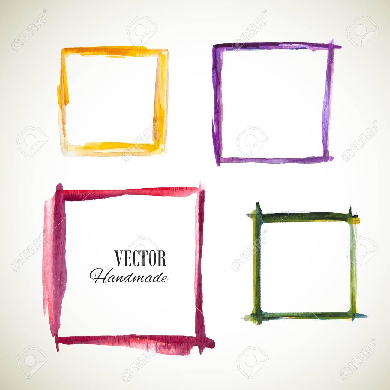Vector Acuarela Ajusta Marco. Marco De La Textura Colorida. Vector ...