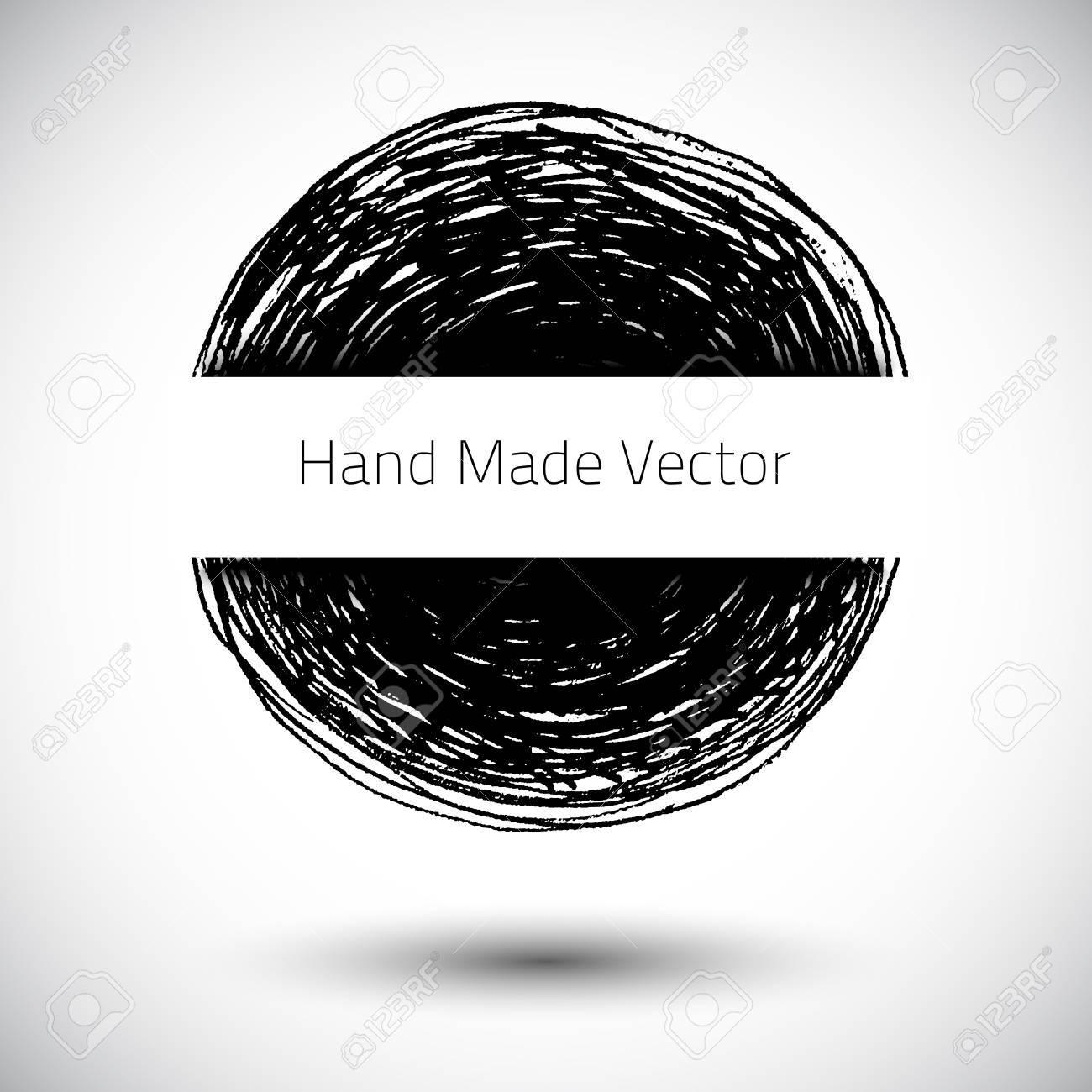 Grunge Abstract Background Vector Pencil Handmade Texture Dark