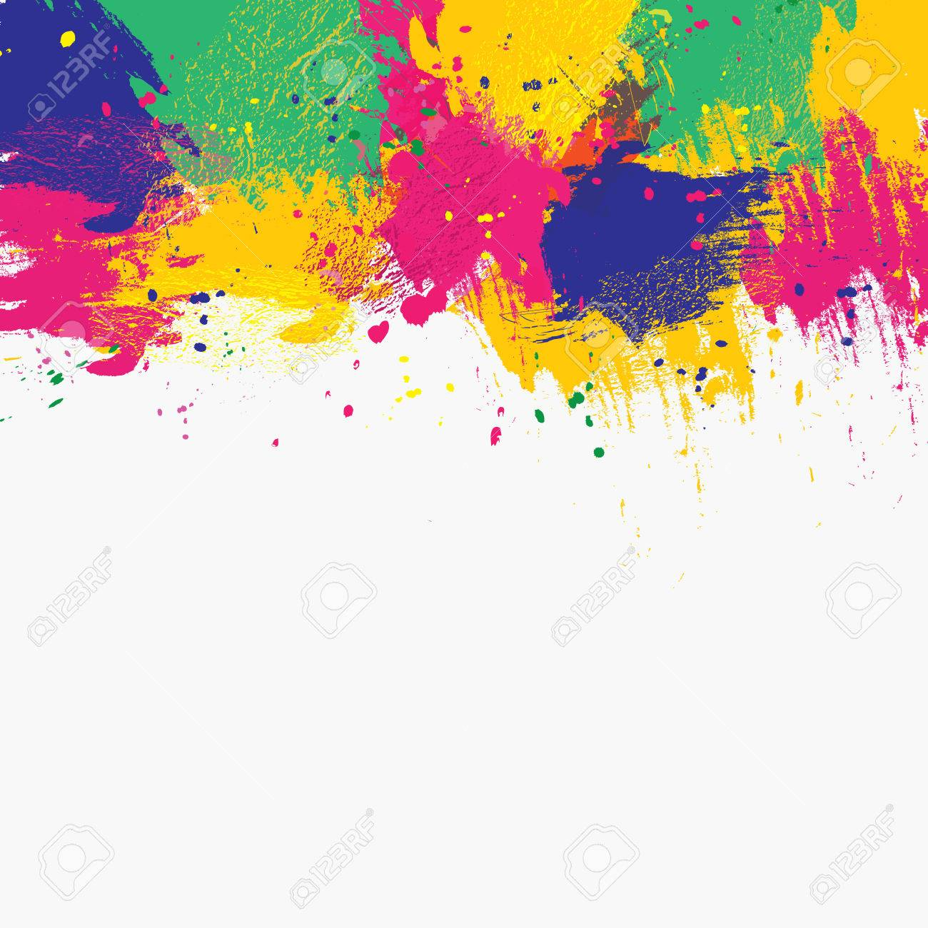 Vector Watercolor Background Colorful Abstract Texture Vector