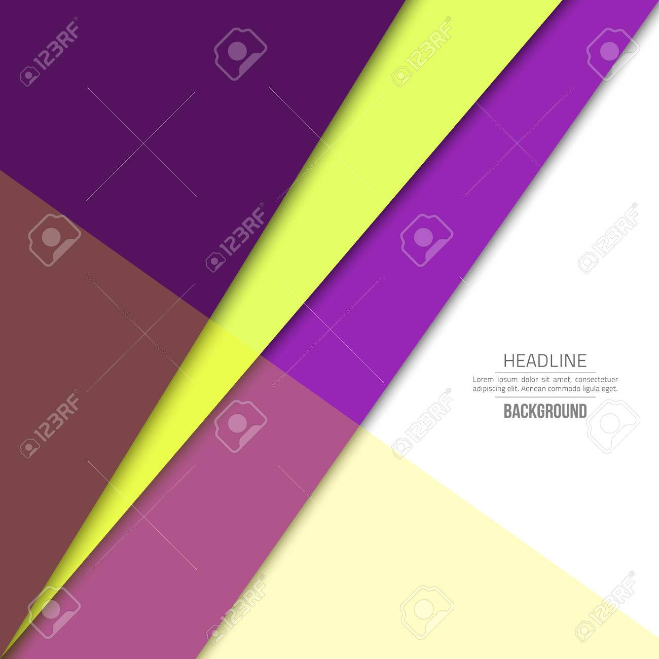 Violet Material Design Background Flat Template Fashion Background