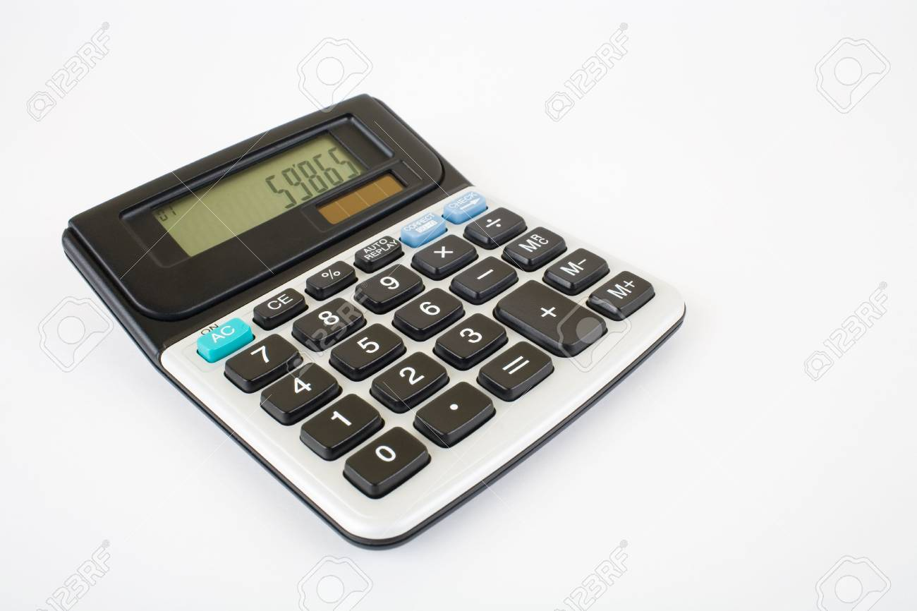 Calculator against white background with very soft shadow Stock Photo - 5134249