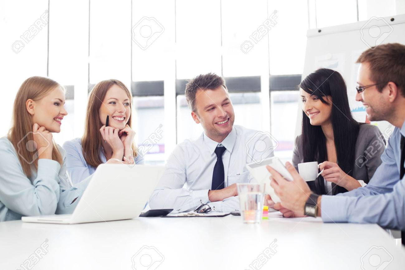 Group of business people working Standard-Bild - 53952538