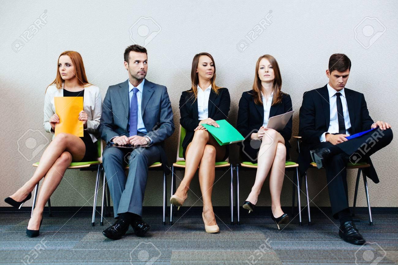 Business people waiting for job interview Standard-Bild - 53953792