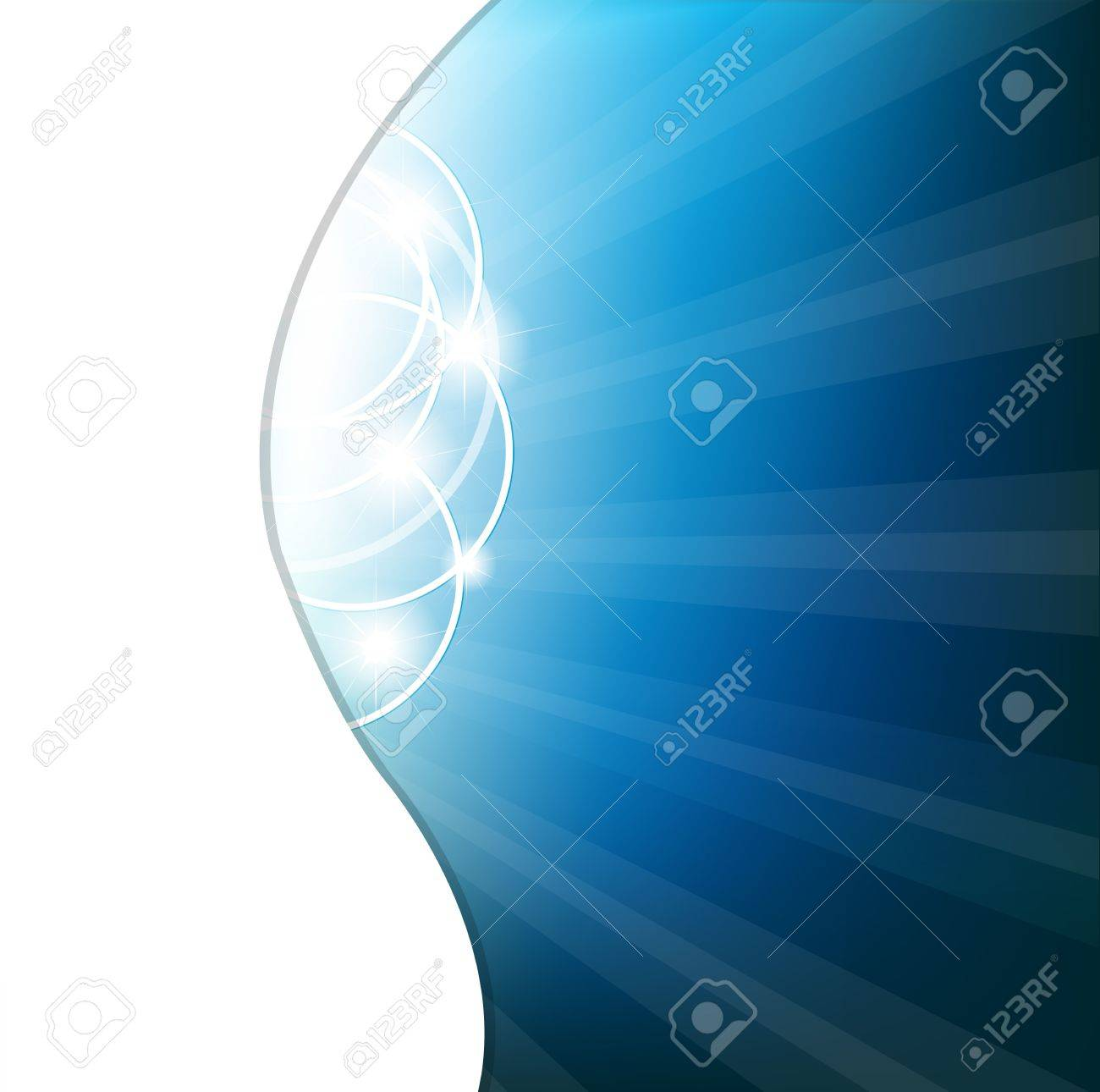 Abstract Blue Background Stock Vector - 10136070