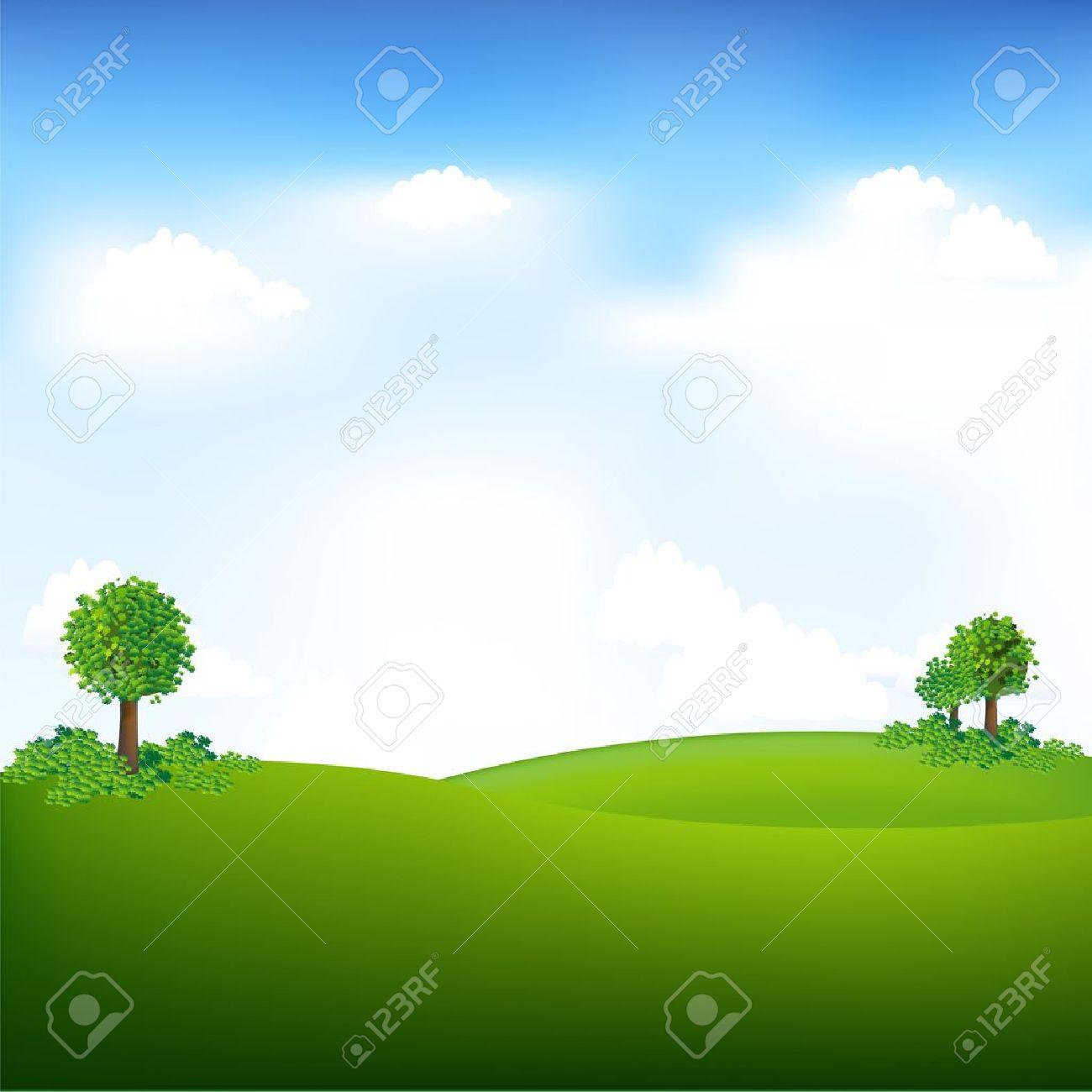 Sky And Landscape, Vector Illustration - 10627293