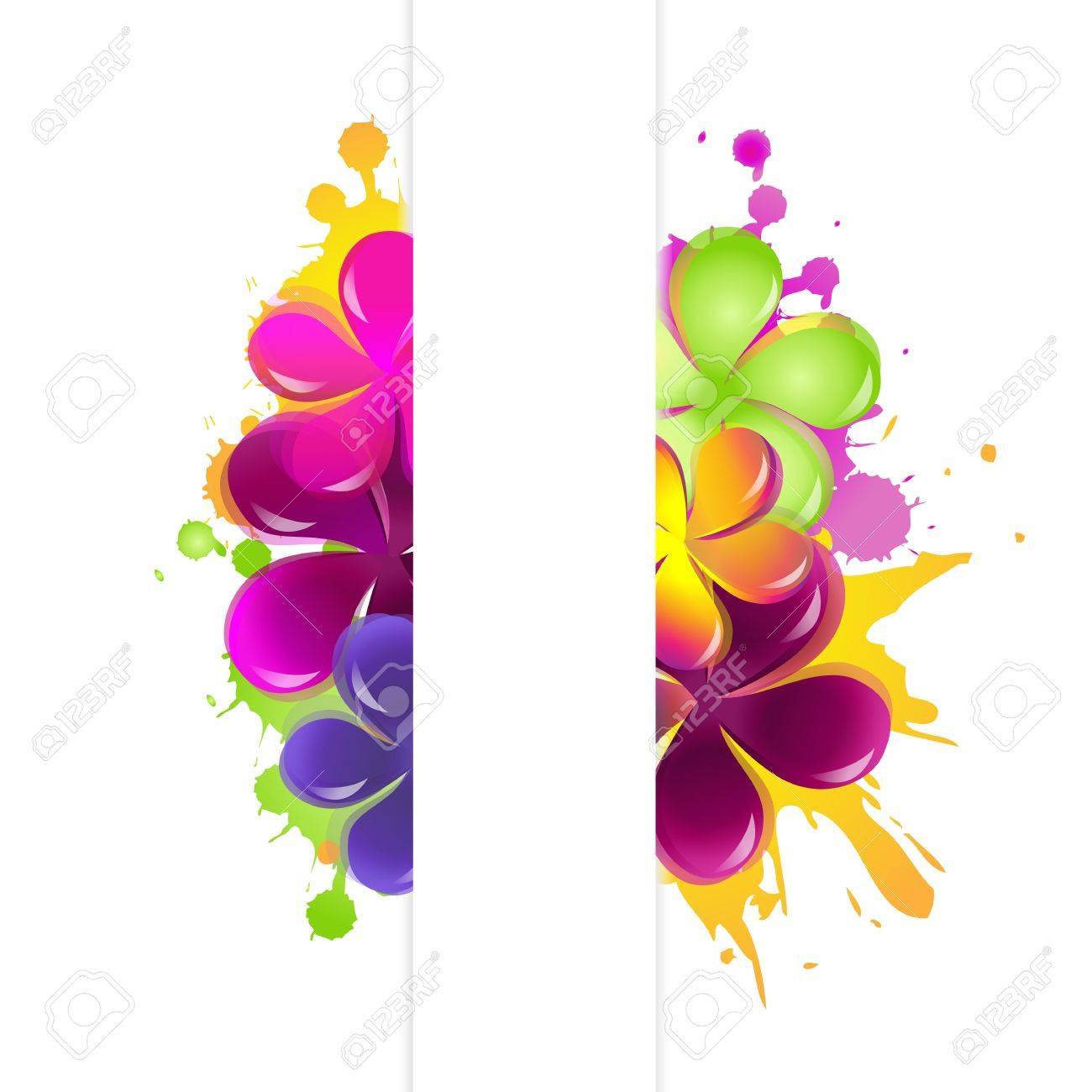Abstract Flowers, Isolated On White Background. Stock Vector - 10668809