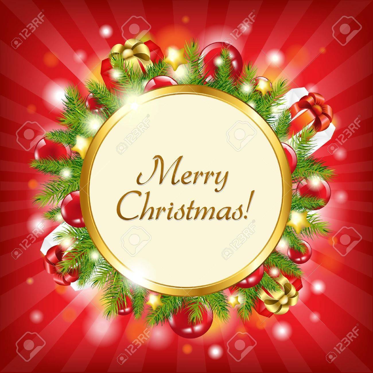 Merry Christmas Card, Vector Illustration Stock Vector - 11271613
