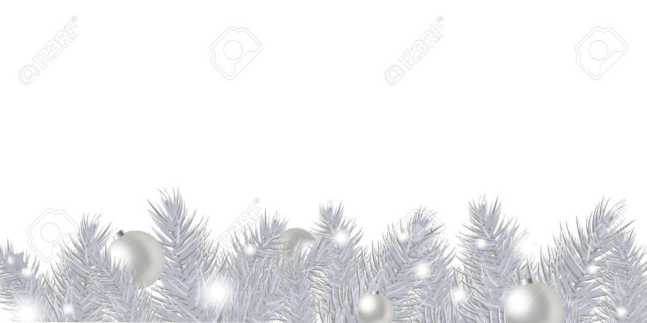 silver new year garland isolated on white background vector illustration stock vector 11271582