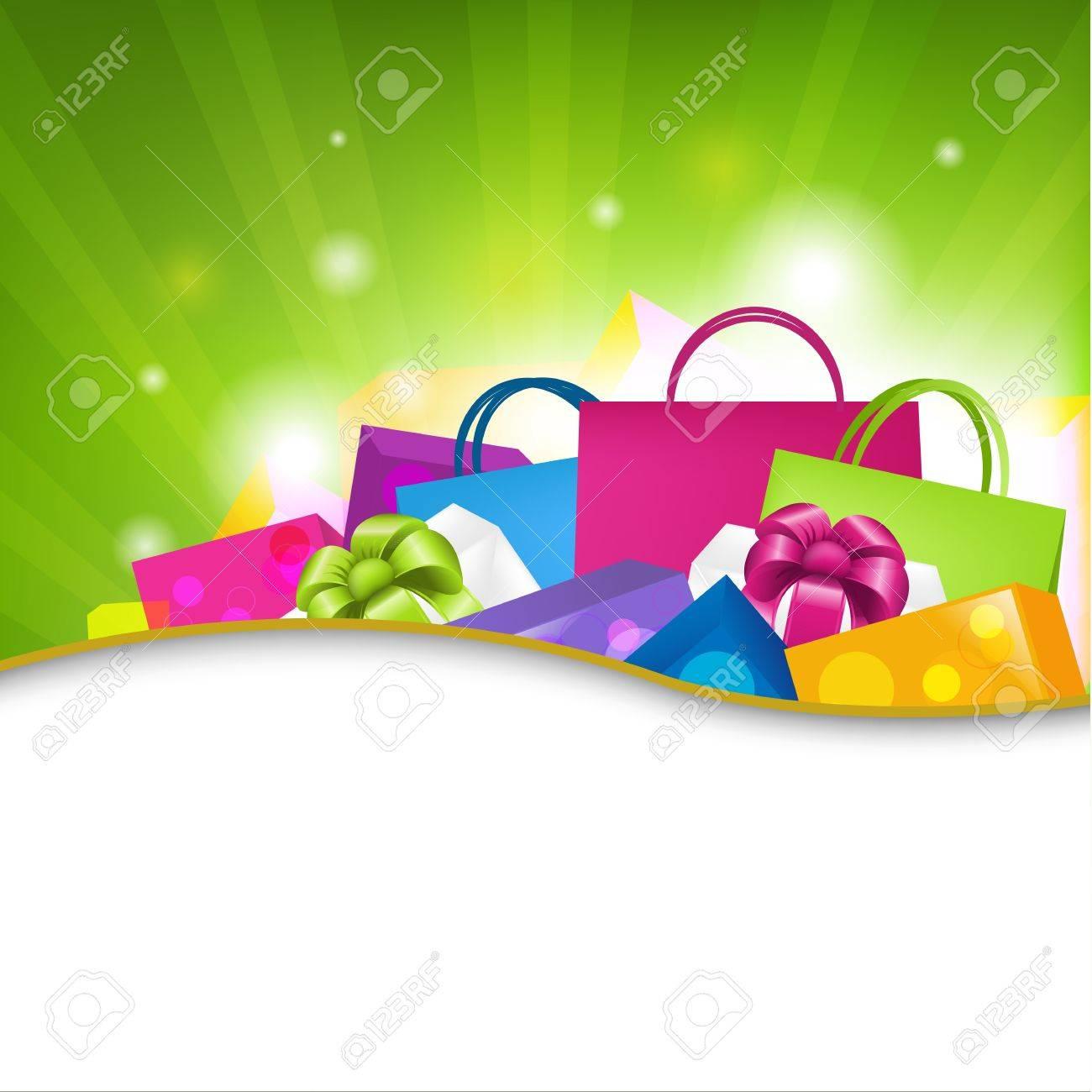 Bright Shopping Background, Vector Illustration Stock Vector - 11349782