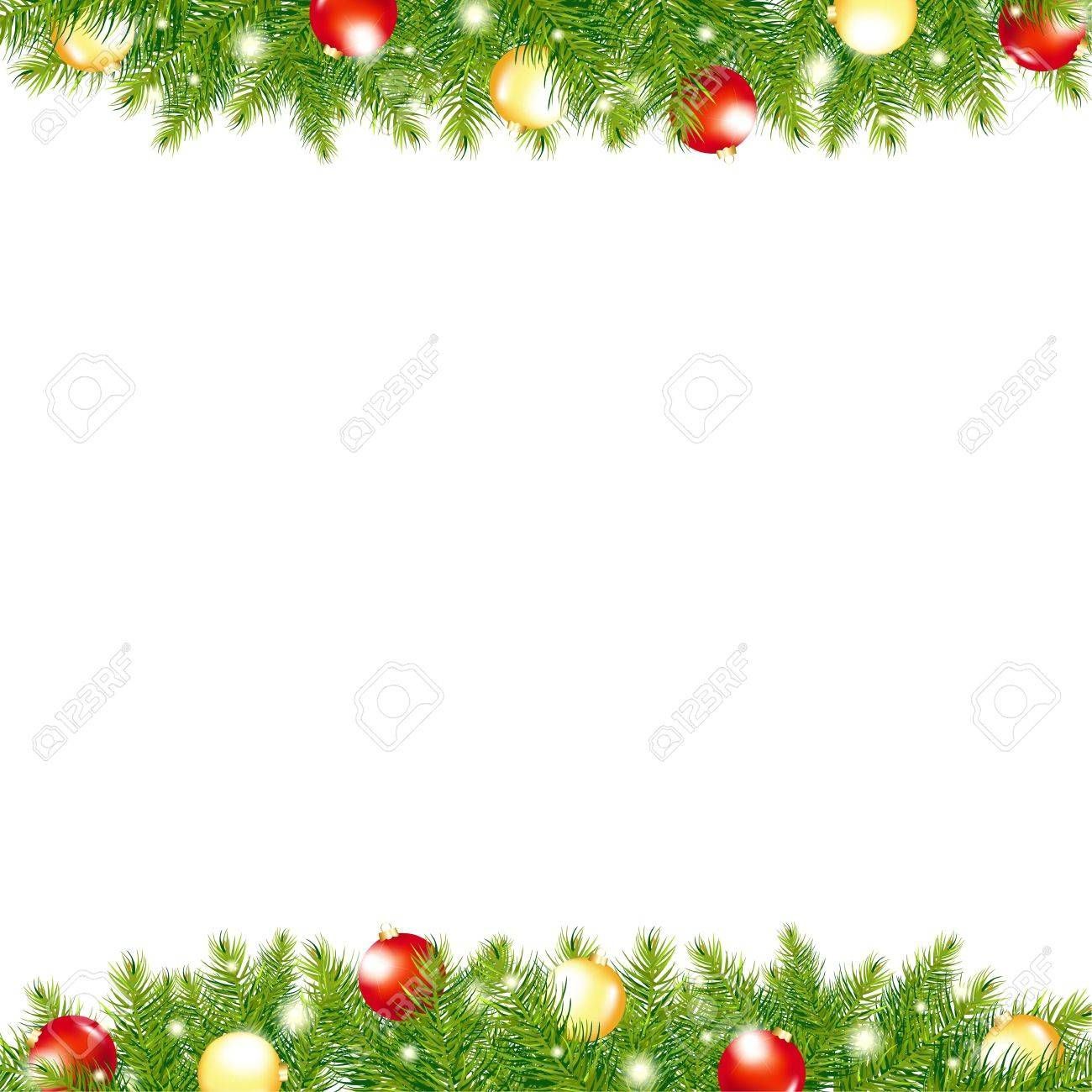 vector xmas and happy new year border illustration