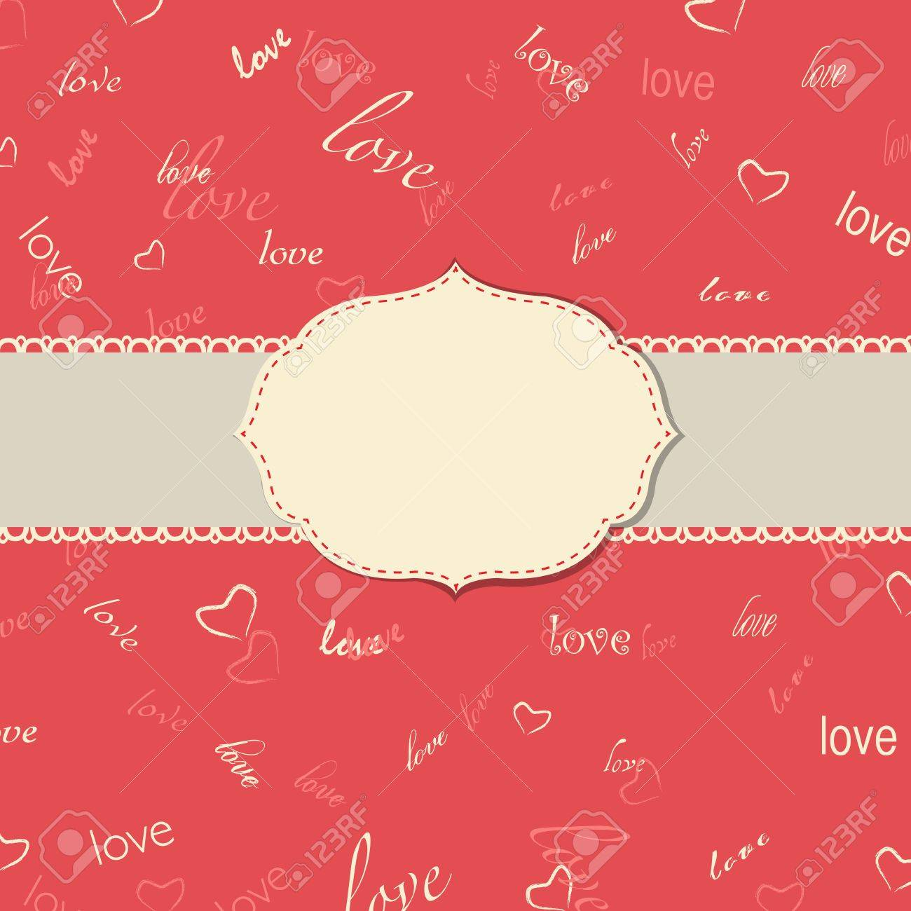 Vintage Love Greeting Card, Vector Illustration Stock Vector - 12076349