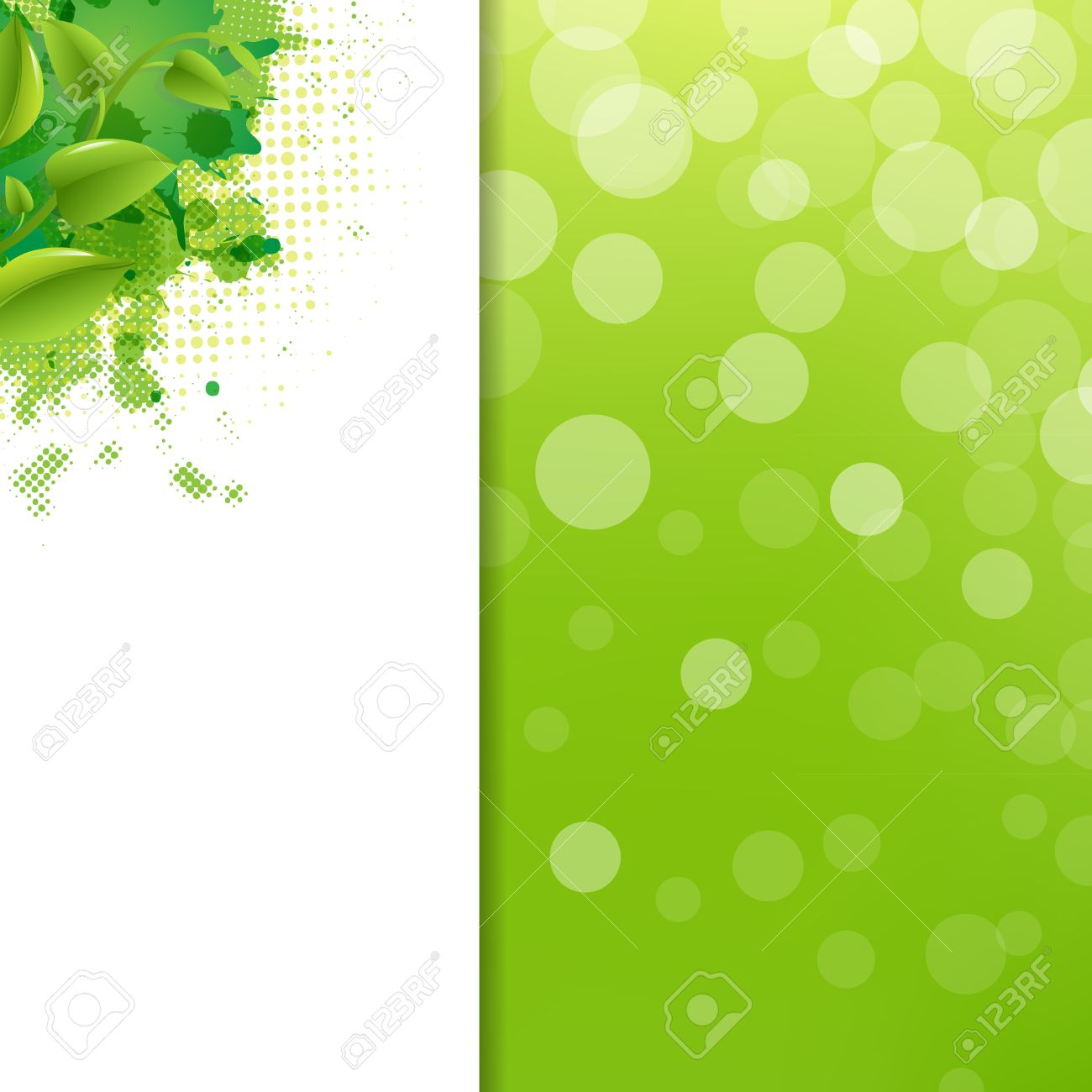 Green Eco Background With Blur And Blob, Illustration Stock Vector - 15069697