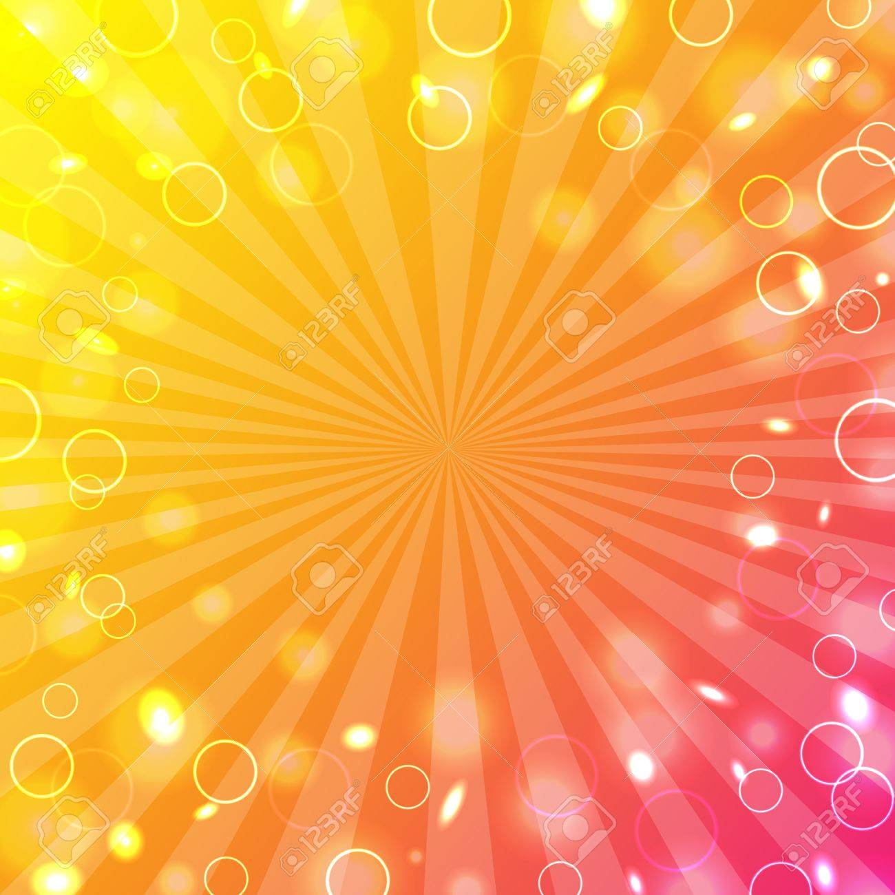 Colorful Design Template With Bokeh