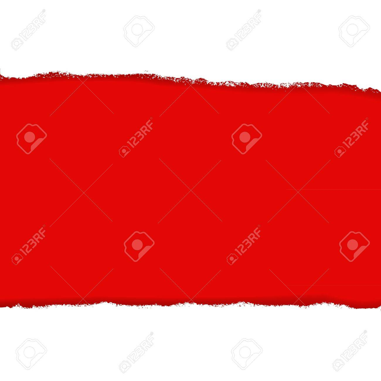 Rip Paper And Red Background, Vector Illustration Stock Vector - 15975524