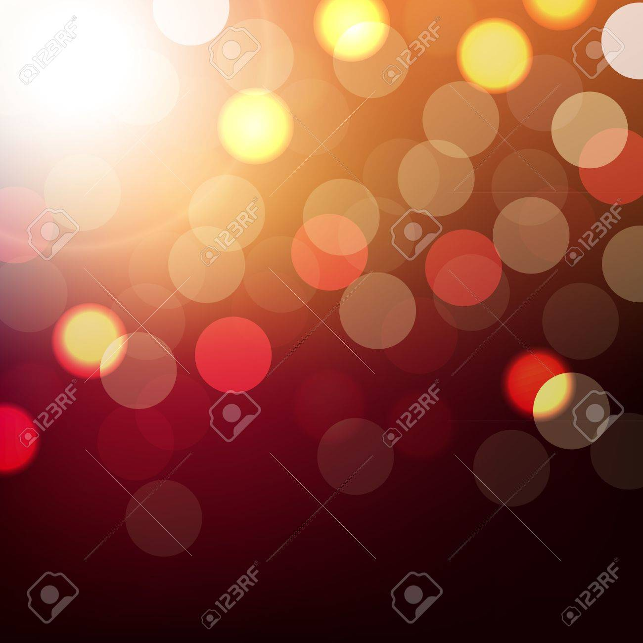 Background With Bokeh With Gradient Mesh, Vector Illustration Stock Vector - 17331844