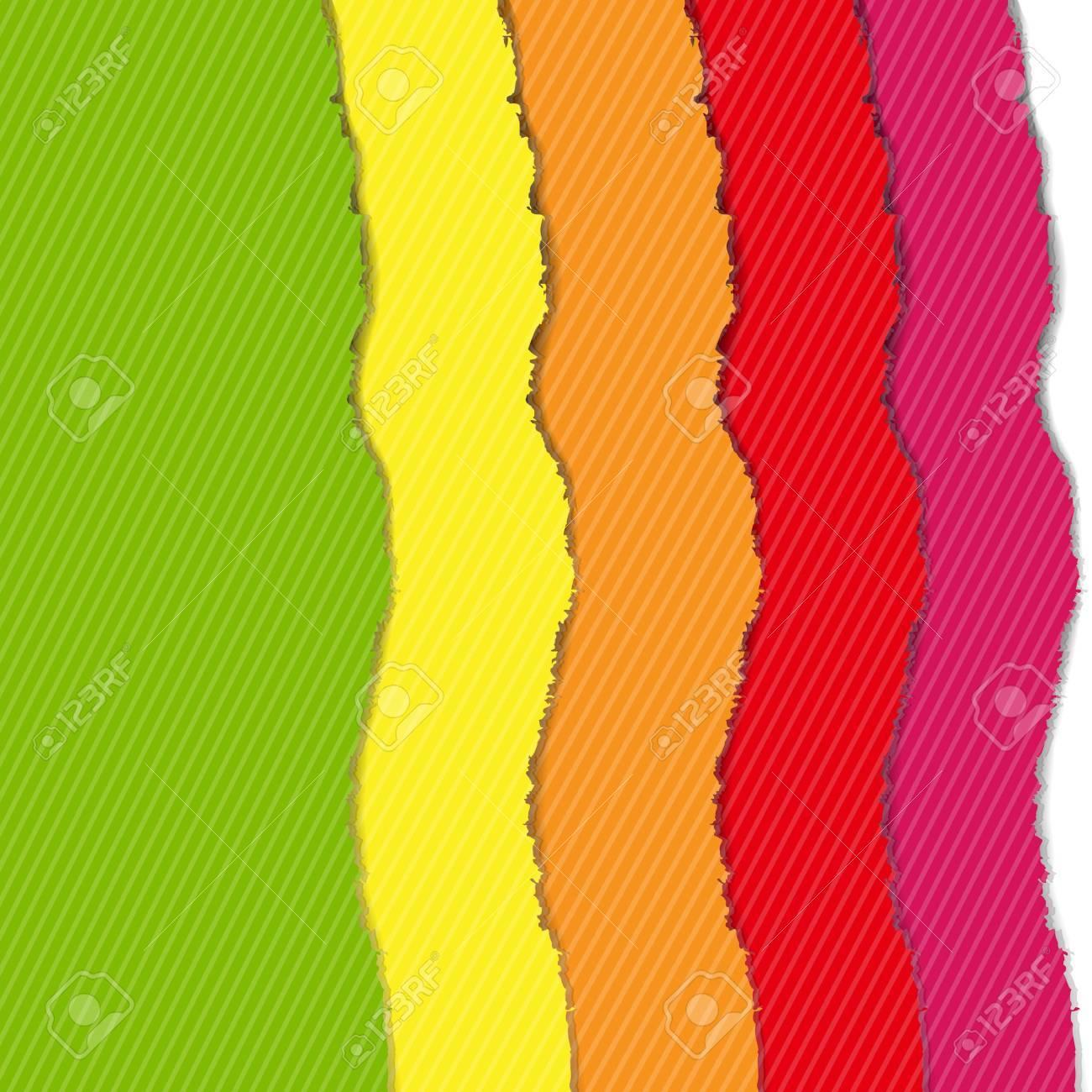 Color Torn Paper Borders Set, Vector Illustration Stock Vector - 19372711