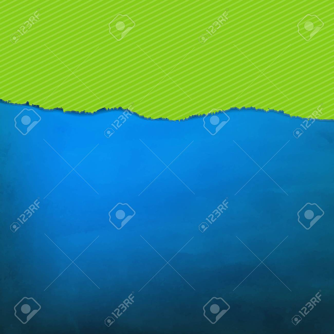 Blue Texture With Green Torn Paper With Gradient Mesh, Vector Illustration Stock Vector - 19580429