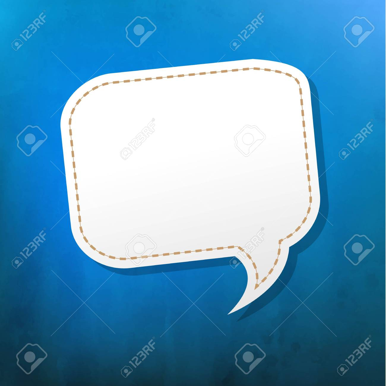 Blue Texture With Speech Bubble With Gradient Mesh, Vector Illustration Stock Vector - 19802577