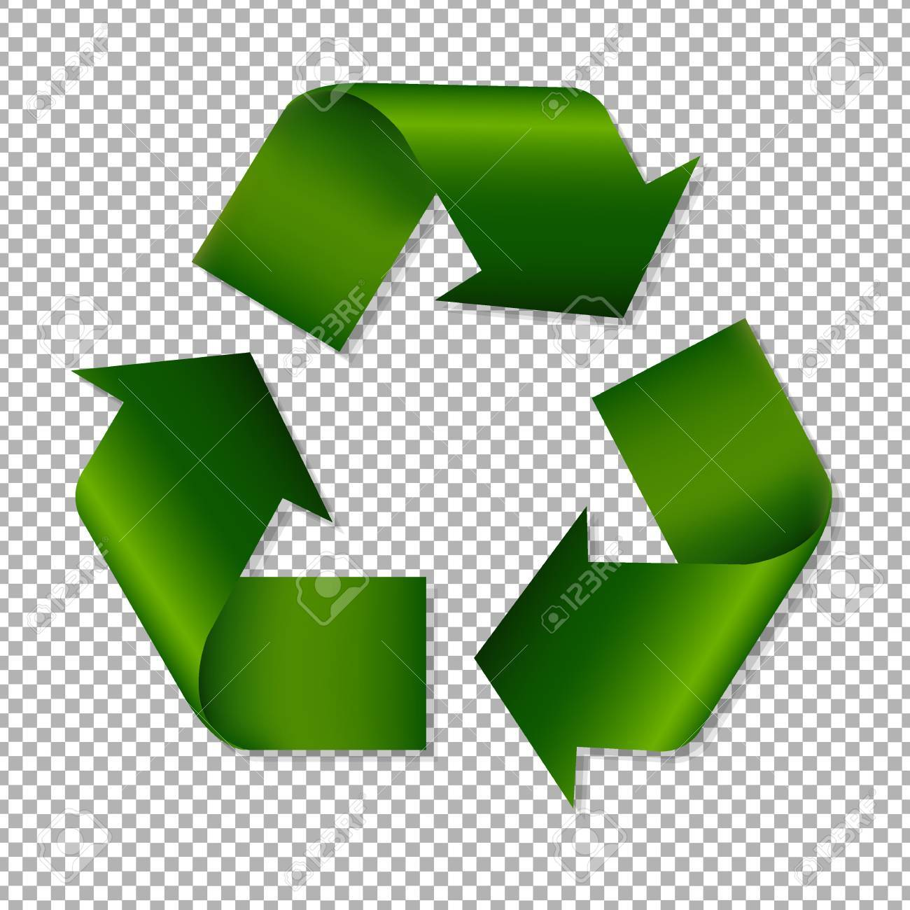 Recycle Sign With Gradient Mesh, Vector Illustration - 74240428