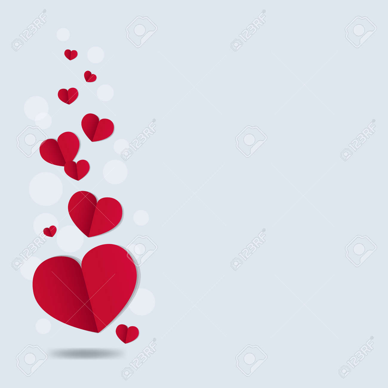 Valentines Day Card With Gradient Mesh, Vector Illustration - 165057735