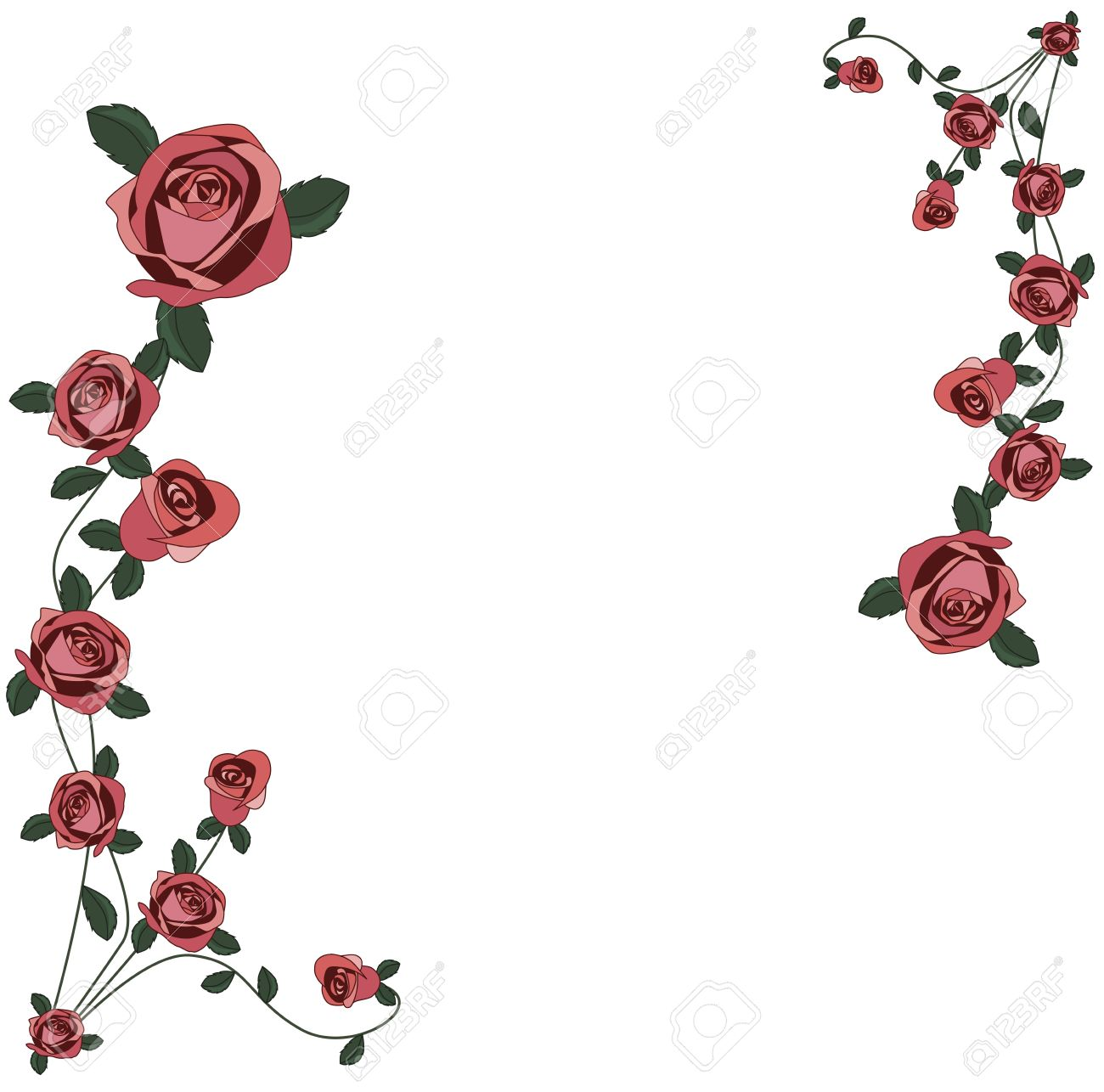 Roses Frame Royalty Free Cliparts, Vectors, And Stock Illustration ...