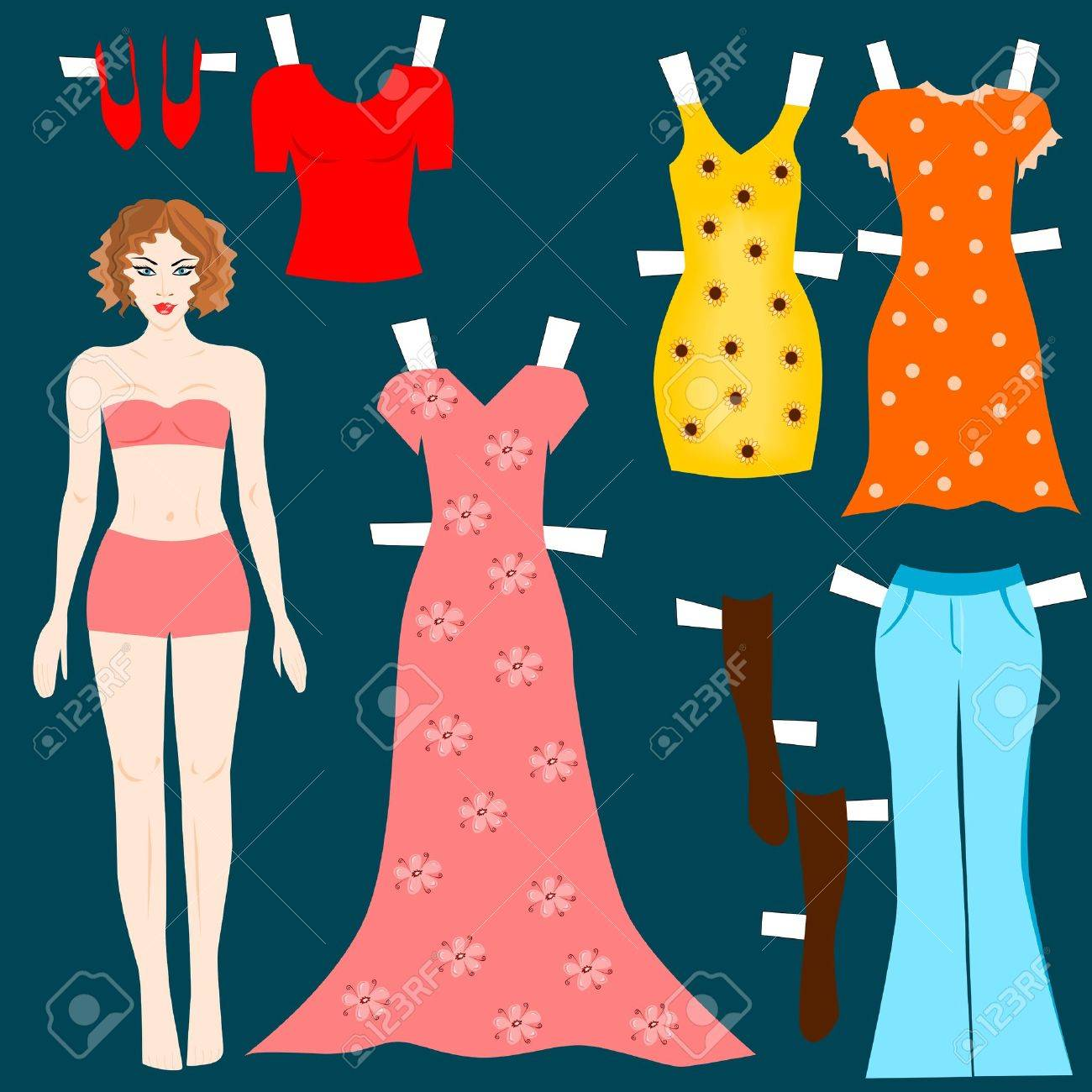 Paper doll Stock Vector - 12490599