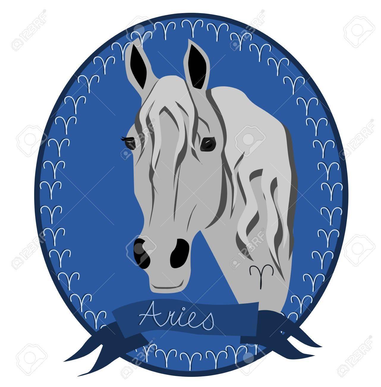 Horse zodiac - Aries Stock Vector - 12788347