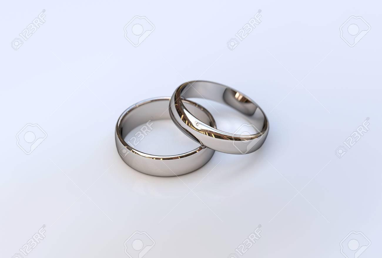 Goldene Hochzeit Ringe Auf Weissem Hintergrund Close Up Lizenzfreie