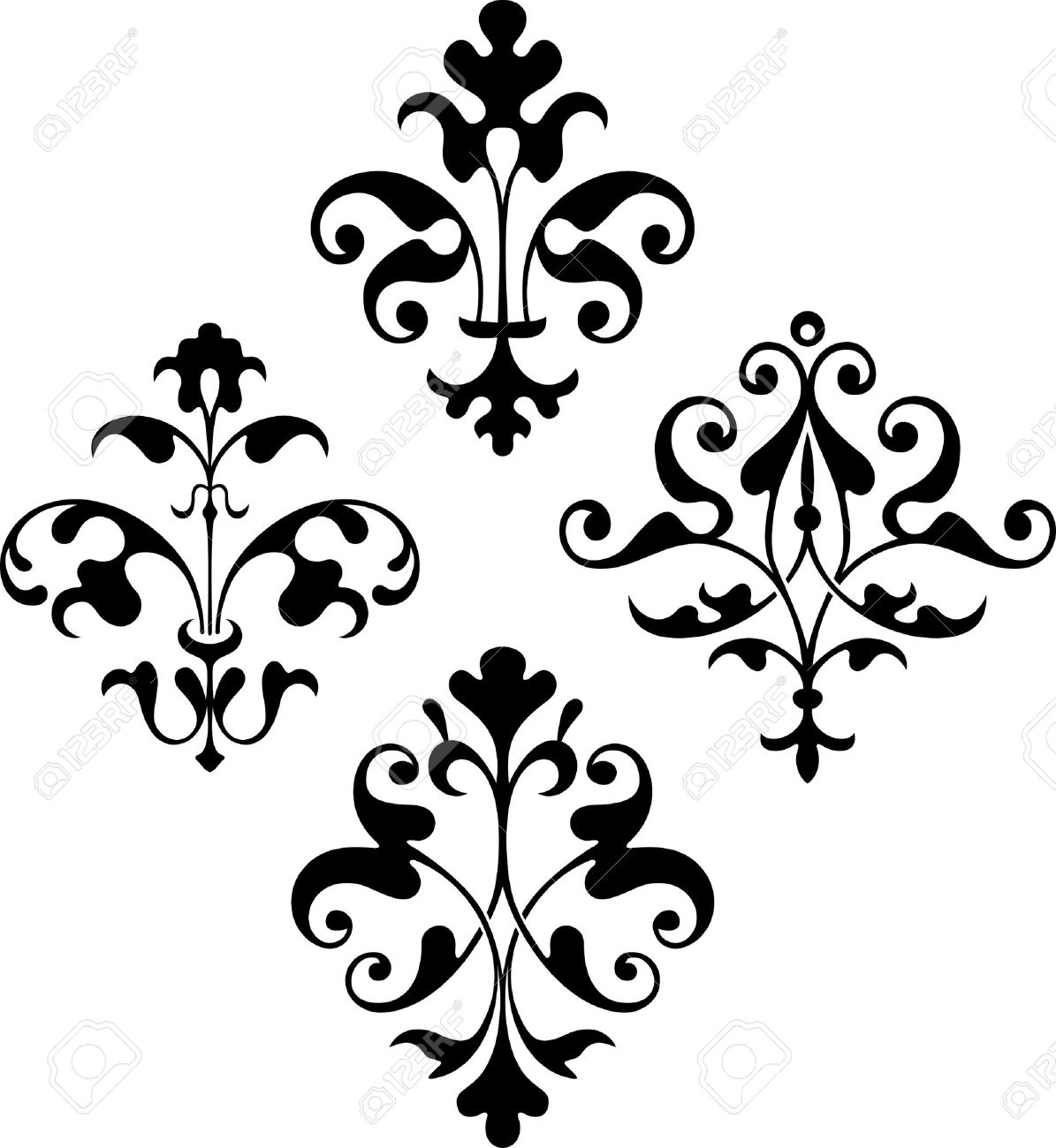 design elements on white royalty free cliparts vectors and stock