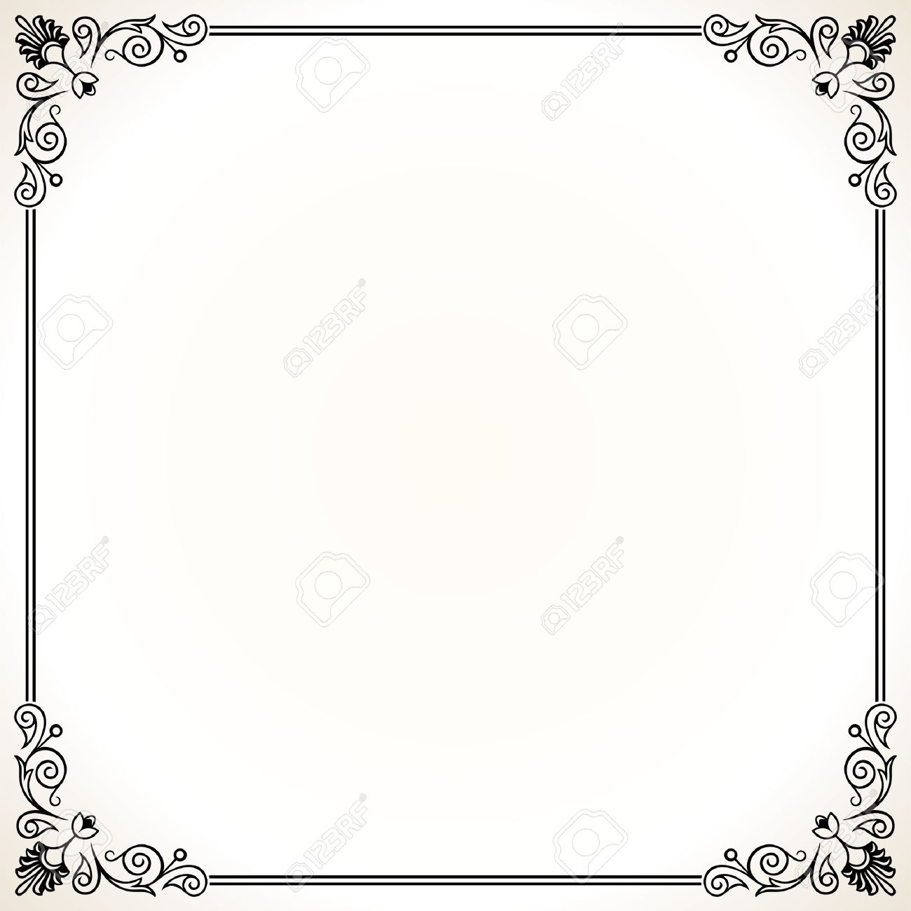Elegance Frame On White Royalty Free Cliparts, Vectors, And Stock ...