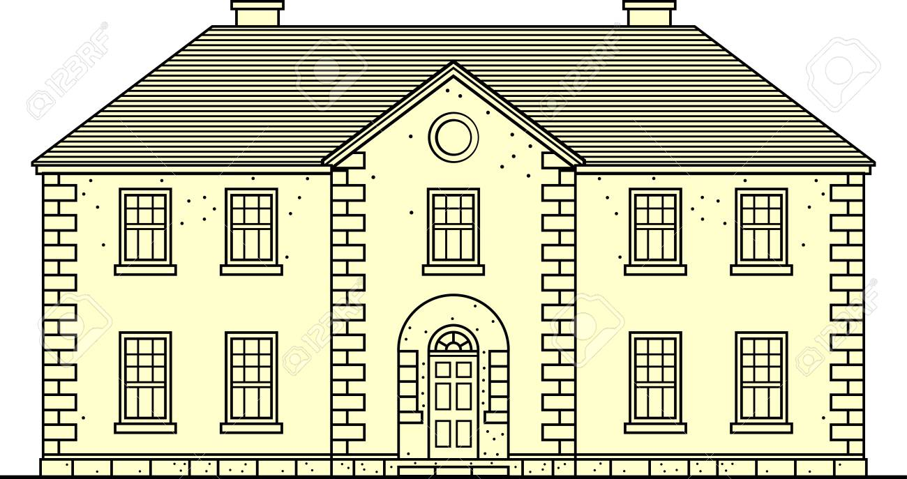 Building on white Stock Vector - 10322404