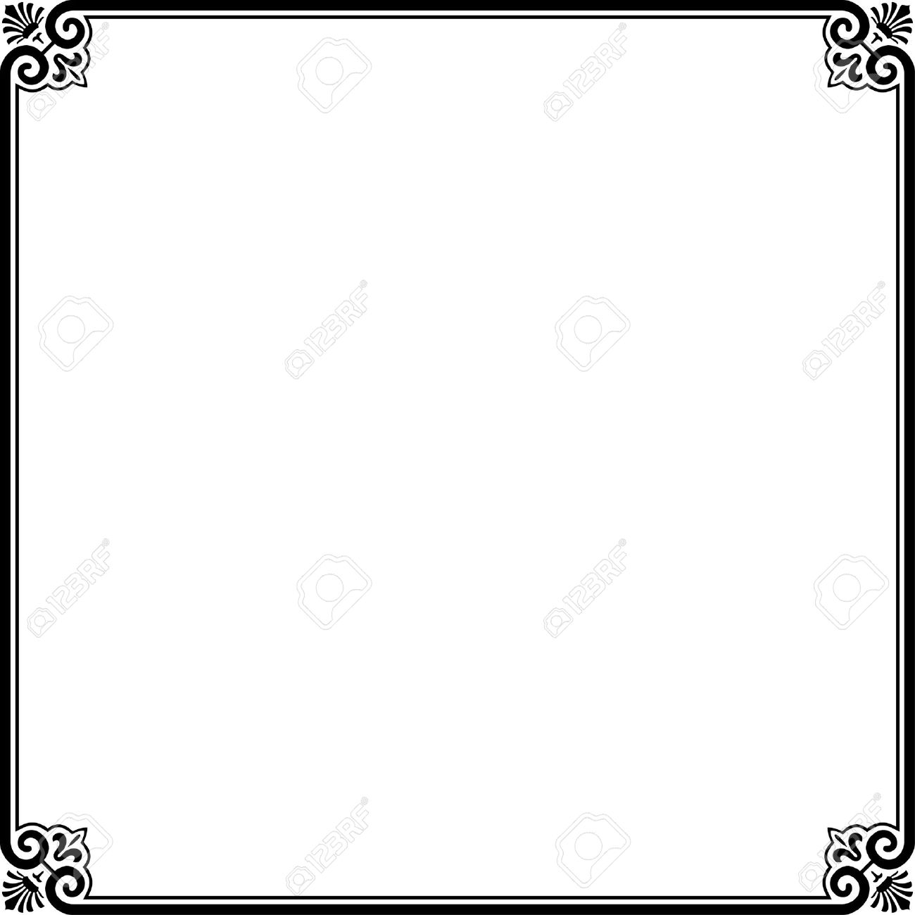 simple frame border. Simple Frame On White Stock Vector - 10322410 Border V