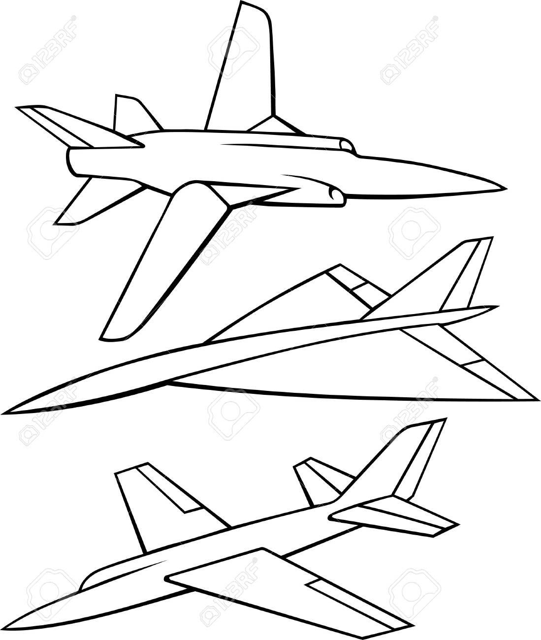 Airplanes on white Stock Vector - 10332448