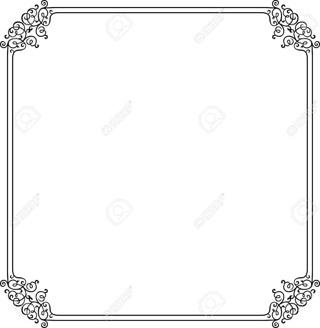 Decorative frame on white Stock Vector - 10332450