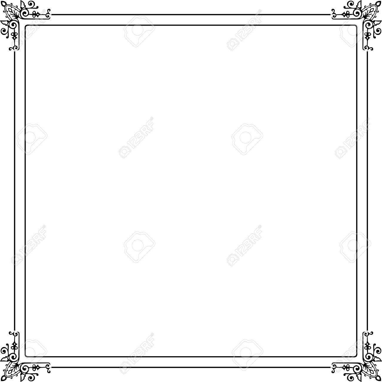 Decorative frame on white Stock Vector - 10332456