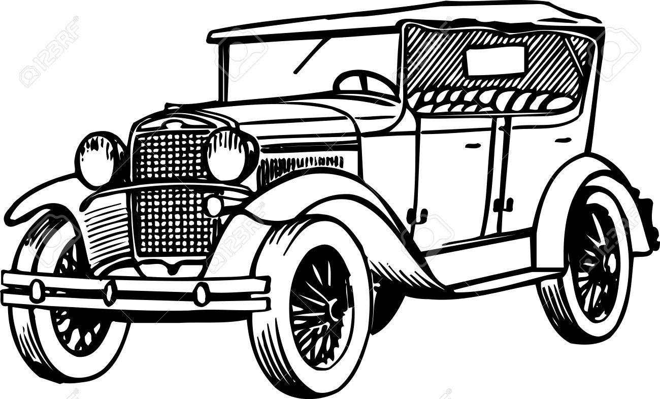 Old Car Royalty Free Cliparts, Vectors, And Stock Illustration ...