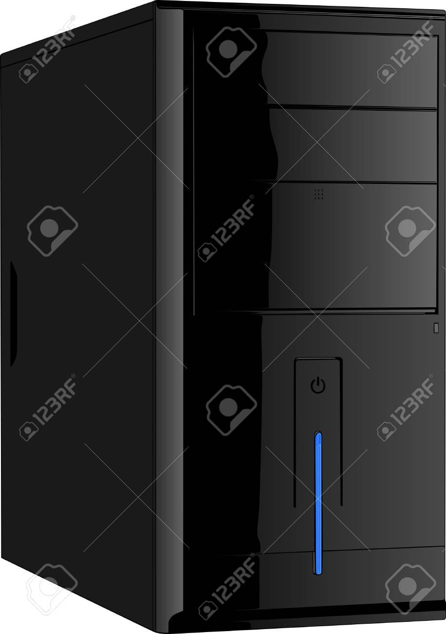 Computer case Stock Vector - 10614631