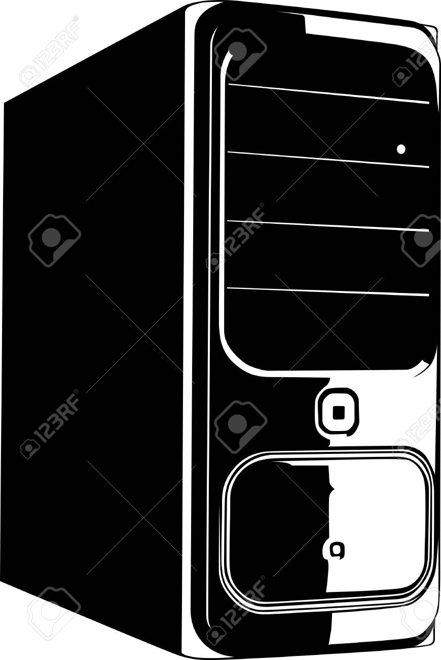 Computer case isolated on white Stock Vector - 10764956
