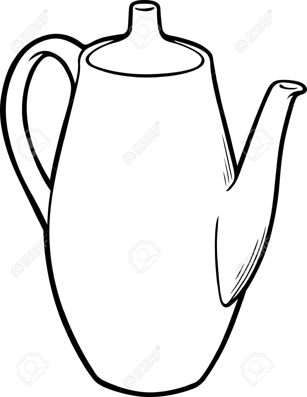 jug clipart black and white. white jug isolated on background stock vector - 11242932 clipart black and l