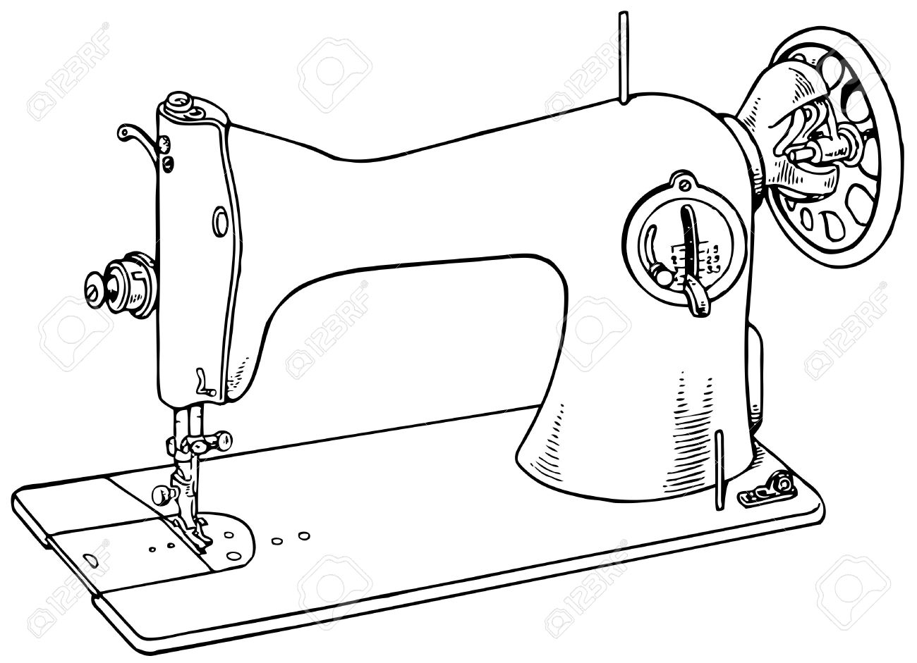 Sewing machine isolated on white background Stock Vector - 11380571