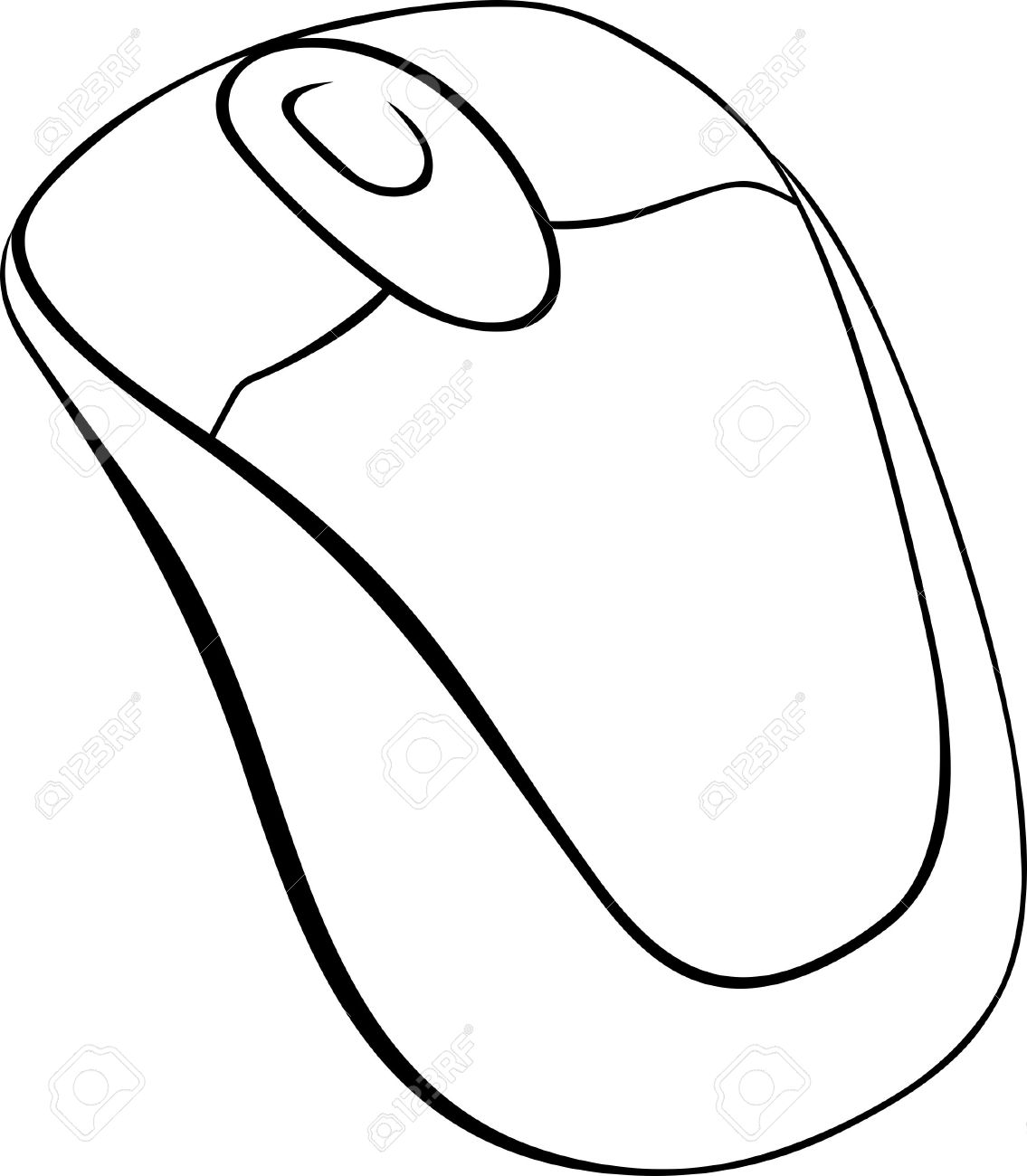 Fine Computer Mouse On White Background Royalty Free Cliparts Vectors Wiring 101 Ferenstreekradiomeanderfmnl