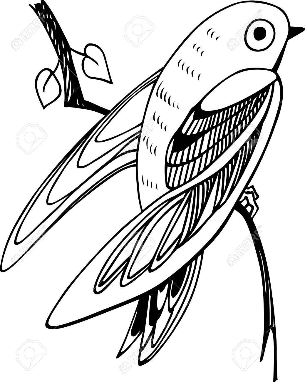 Small bird on the branch Stock Vector - 13450305