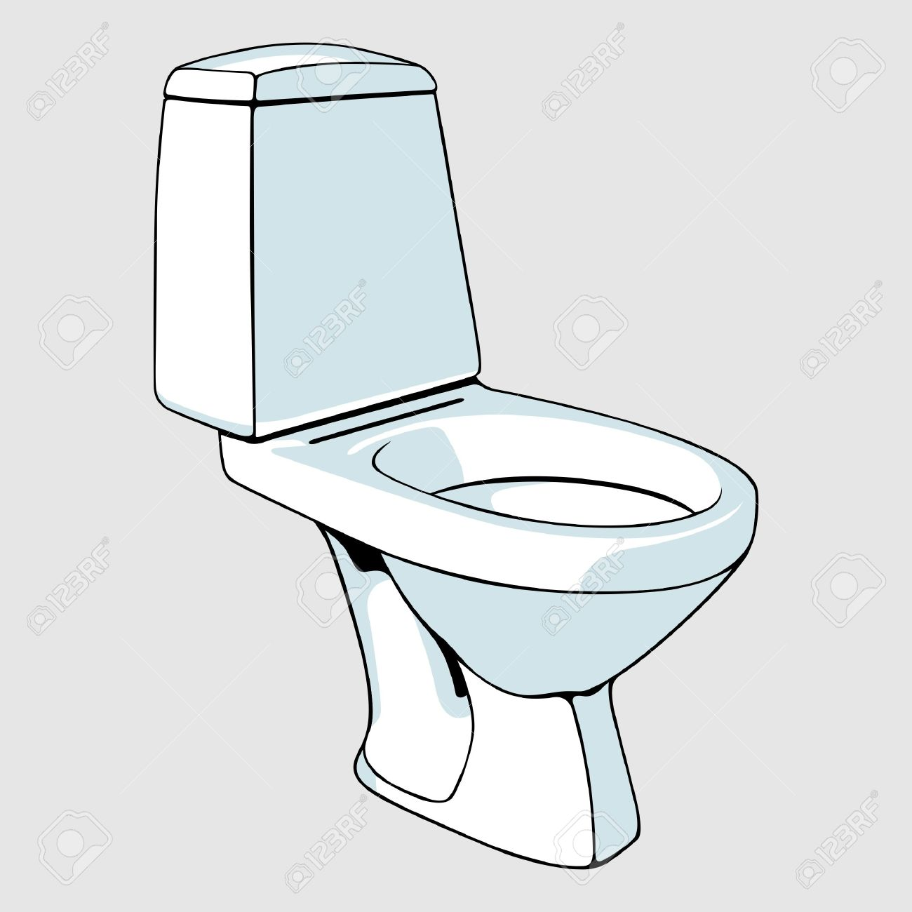 Toilet bowl Stock Vector   13611000. Toilet Bowl Royalty Free Cliparts  Vectors  And Stock Illustration